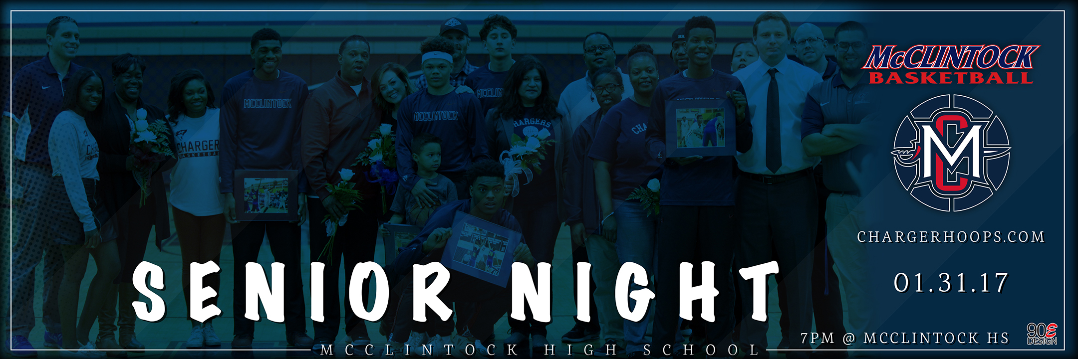 McClintock Basketball Senior Night 2017