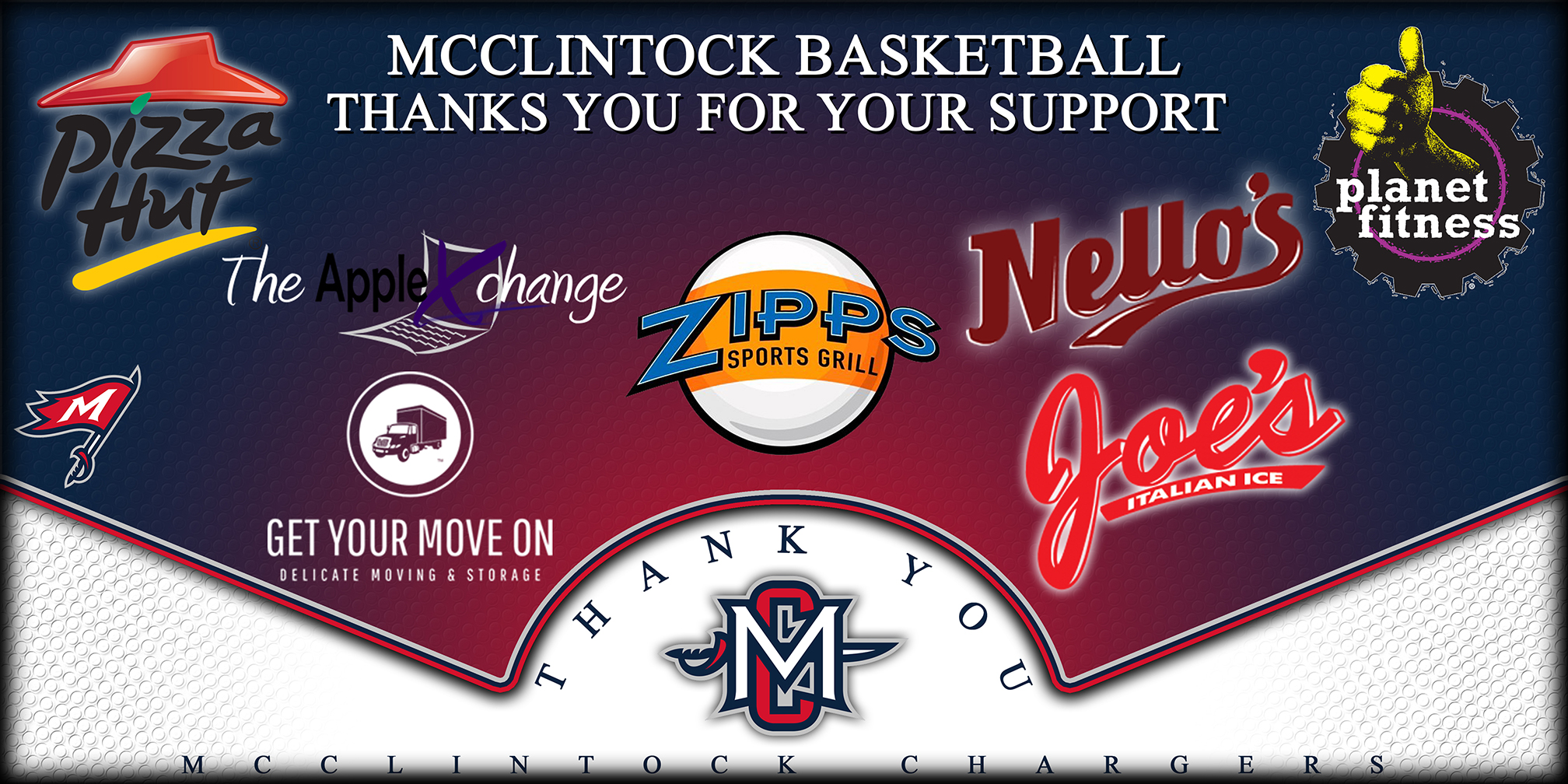 McClintock Basketball Sponsors Page